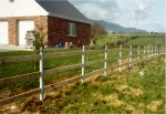 Fence with steel posts as supplied and fitted by Donald Murphy Fencing Services, Waterford, Ireland